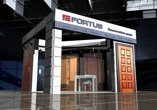 Разработка фирменного стиля и дизайна демонстрационных стендов сети магазинов Фортус