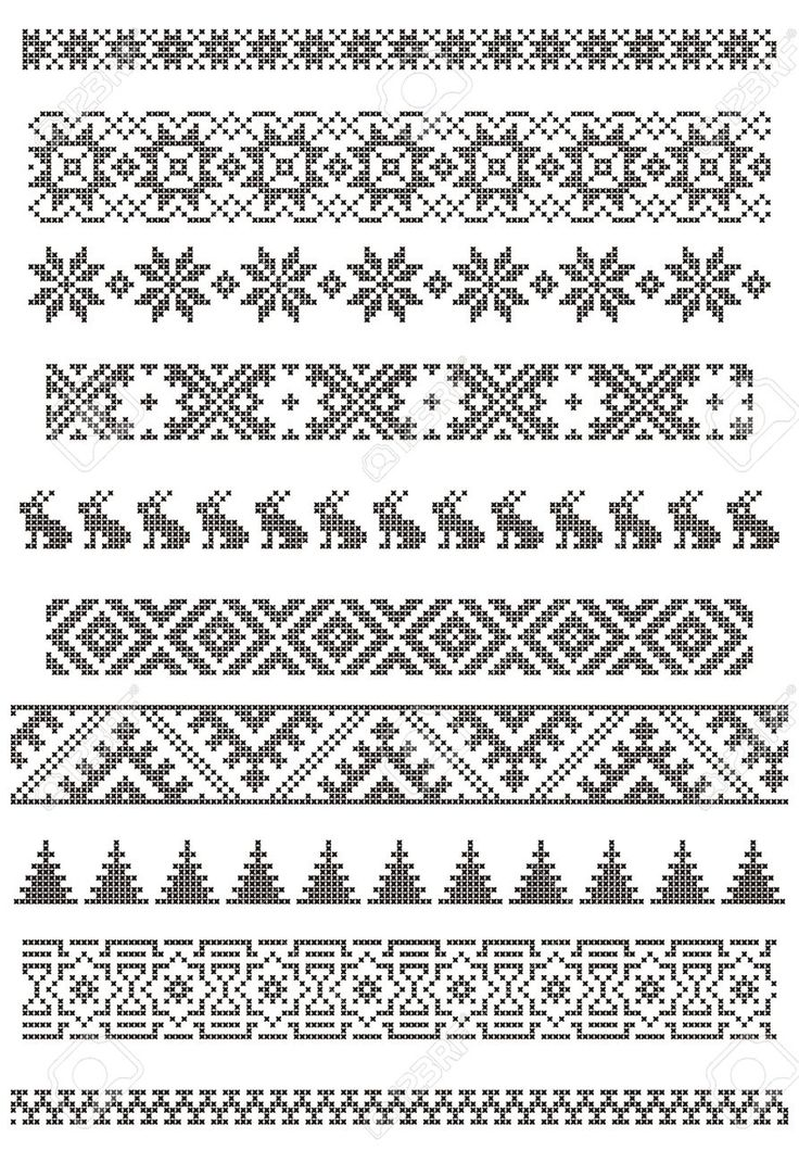 Set Of Borders, Embroidery Cross, Vector Illustration Royalty Free Cliparts, Vectors, And Stock Illustration. Image 3841790.