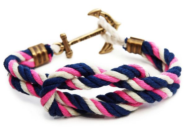 Kiel James Patrick Their Triton Knot sailing bracelets are carefully hand-knotted in Rhode Island from their own locally twisted nautical cord in various weathe kiel james patrick bracelet, rope bracelet, triton knot bracelet, preppy bracelet, sarah vickers bracelet, vickers collection, lanyard hitch bracelet, preppy belt, anchor clasp bracelet, nautical bracelet, sailing bracelet, sailing accessory, kjp bracelet Preppy bracelets, Preppy accessories, Kiel James Patrick bracelets, nautical…