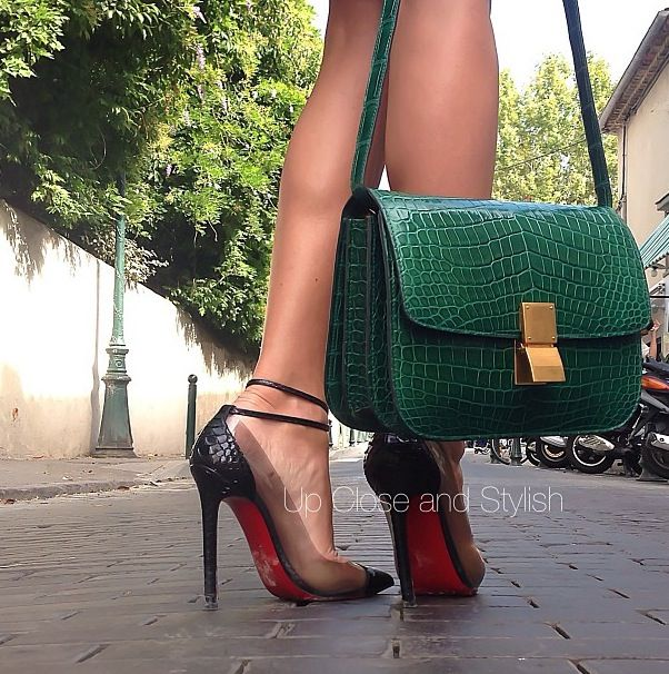 Exotic Celine box bag and louboutin python un bouts! | If I was a ...