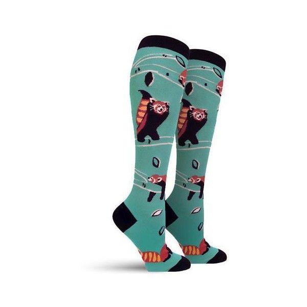 Fox Trot Socks Womens ❤ liked on Polyvore featuring intimates, hosiery, socks, animal print socks, crew socks, cotton socks, crew length socks and print socks
