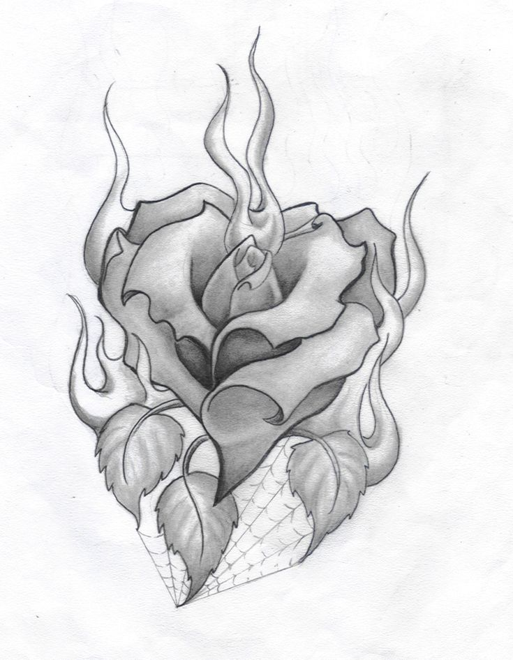 burning rose heart