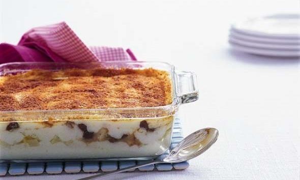Gegratineerde griesmeeltaart met boerenjongens en vanillesaus recept   Dr. Oetker