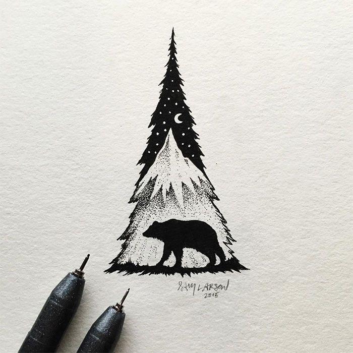 disegni-miniatura-inchiostro-animali-paesaggi-sam-larson-14