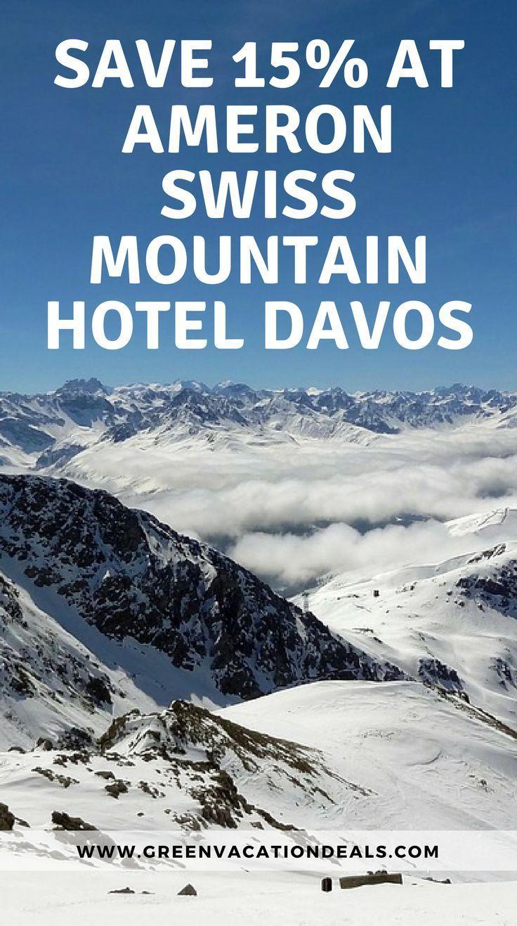 Save money on your ski trip at Ameron Swiss Mountain Hotel Davos. Quality European ski vacation at a discount. Budget Ski Travel | Ski Trip Tips | Europe Ski Resorts | How to Save on a Ski Trip to Europe #skiresort #ski