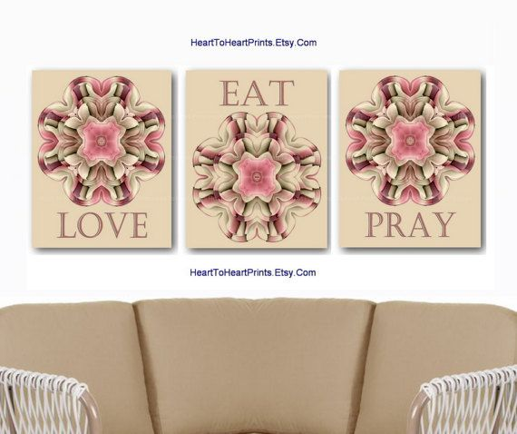 Modern Kitchen Wall Decor Eat Pray Love Trio By: 17 Best Ideas About Maroon Room On Pinterest