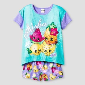 Girls Shopkins Pajama Set - Purple