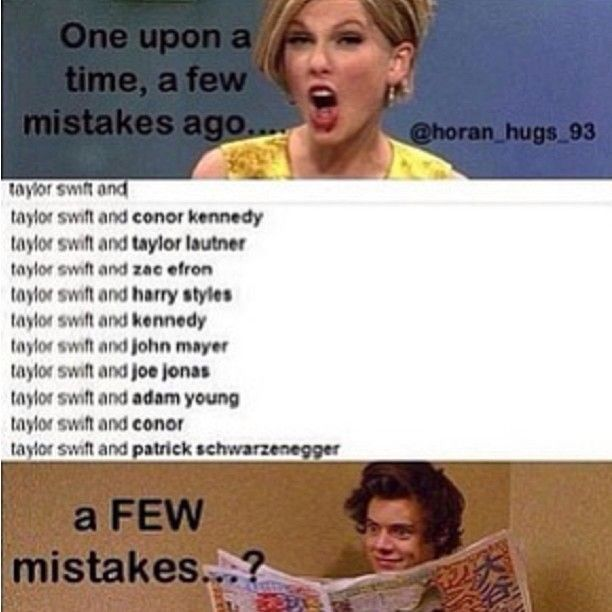 Taylor Swift and Harry Styles meme
