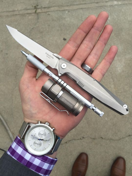 Great to see the Rike 1507S and Olight S1 Bead Blasted Titanium!