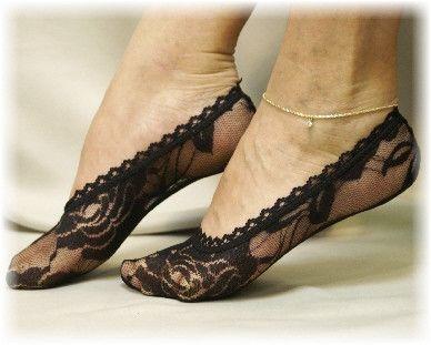 Lacy socks, peep socks, lace socks for heels, lace sock, wedding socks, ALLURING LACE black stretch Lace socks | FTO 1 pr.