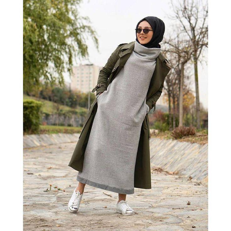 """1,770 Beğenme, 98 Yorum - Instagram'da BUTİKGEZ We Luv Modest Fashion (@butikgez): """"Bu elbise yaklaşan soğuklar için biçilmiş kaftan ☺Profilimizdeki linke hemen 👆 tıkla ve incele!…"""""""