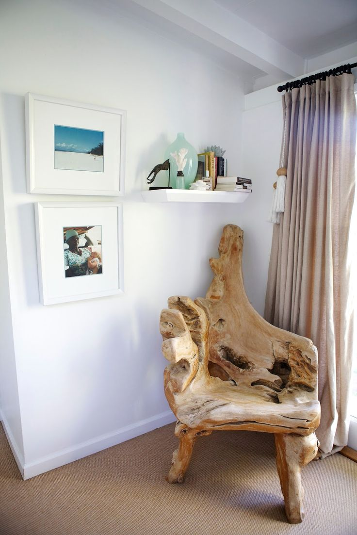 Wonder if I could find something similar to make a chair out of? I remember seeing lots of driftwood around the poconos lakes. Would probably turn out like shit. LOL.  - Driftwood chair