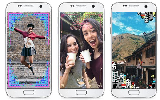 Altri esempi della nuova app AR per la realtà aumentata di Facebook