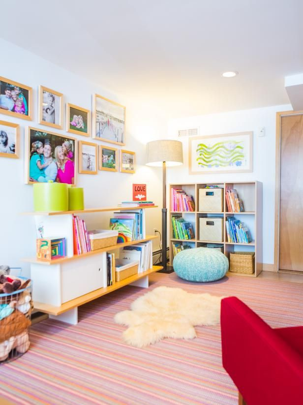 Hgtv Small Spaces Living Rooms: 45 Small-Space Kids' Playroom Design Ideas