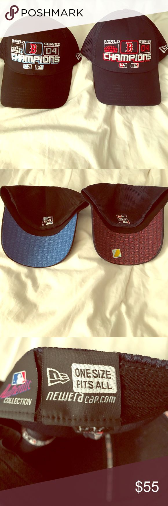 ⚾️ Boston Red Sox 04' World Series Champions Hats ⚾️ Want a piece of history? From the year the Red Sox broke the curse, a rare unworn matching set of World Series hats. A must for any collector or Red Sox fan. New Era Accessories Hats