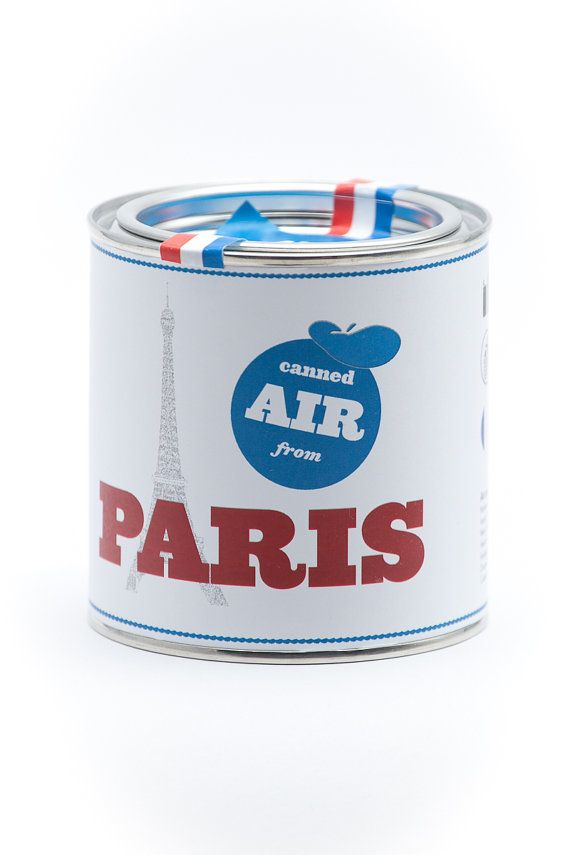 Original Canned Air From Paris by cooperativ on Etsy, $9.99  I want some canned air from PNW or Maine!!