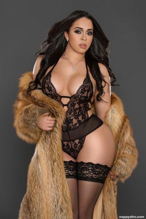 Bikini and fur coat