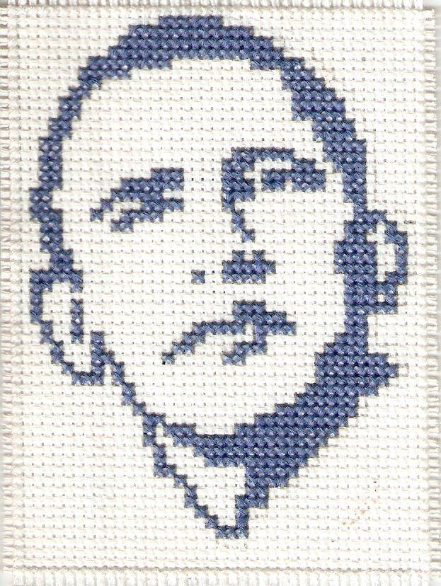 Barack Obama cross stitch