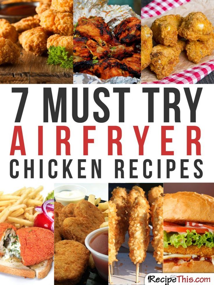 Airfryer Recipes | My 7 favourite air fryer chicken recipes that I just can't stop cooking from RecipeThis.com