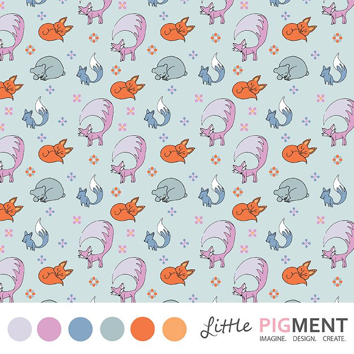 #WoodLand #SurfacePatternDesign #SurfacePattern #Foxes #Bears #Cute #LittlePigment