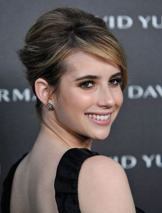 Emma Roberts GEORGEOUS! Ladies!!! Note Emma's flawless highlights and lowlights mixed in with her natural root color. We dont always have to alter our natural root color and go all over color, sometimes the trick is actually finding the right combination to compliment one another. Ususally that consists of beige tones, warm tones, and natural tones. You can play each color into yourself. There is NO RULE with color. Except....make it your own <3