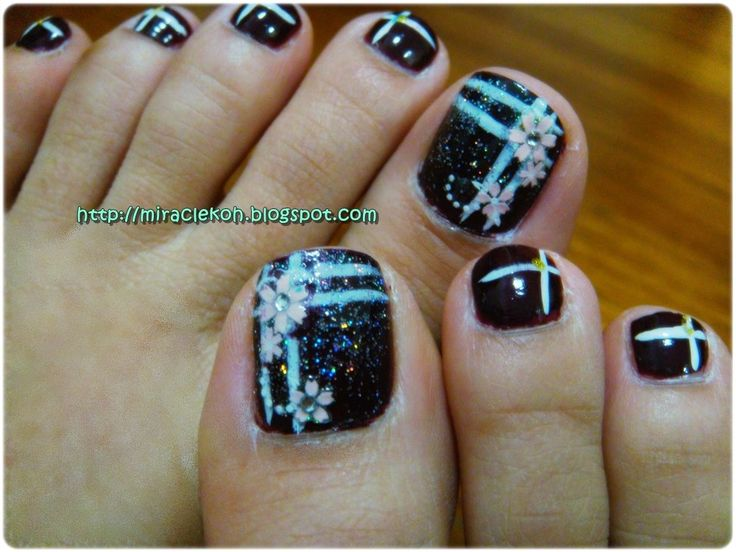 77 best belleza y bienestar images on pinterest home remedies natural remedies and beauty tips for How to design toenails at home