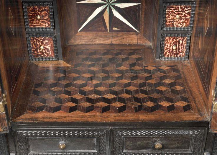 Фирма фламандский черного и почерневшие деревянные - шкафы