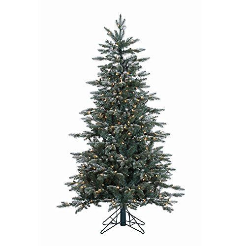 5' Crystal Frosted Balsam Fir Artificial Christmas Tree with 300 Clear Lights