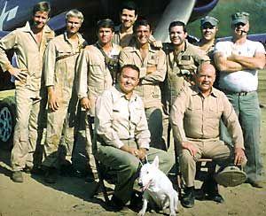 The cast of BAA BAA BLACK SHEEP/BLACK SHEEP SQUADRON, NBC 1976-78