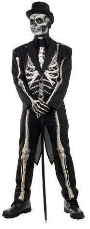 Men's Bone Chillin' Skeleton Adult Suit Costume - One Size Fits Most