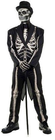 Men's Bone Chillin' Skeleton Adult Suit Costume - One Size Fits Most