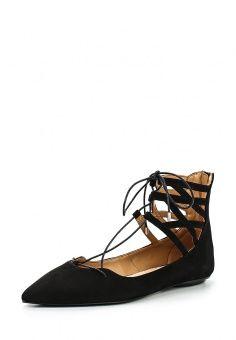 Туфли Topshop, цвет: черный. Артикул: TO029AWGFU86. Женская обувь / Туфли / Туфли на плоской подошве