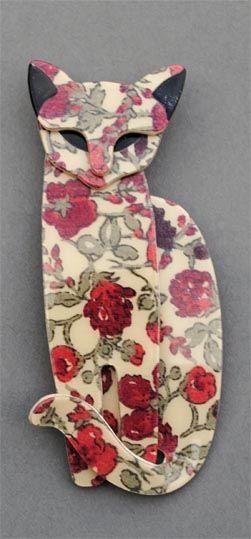 Lea Stein Cat (Flowery) £58