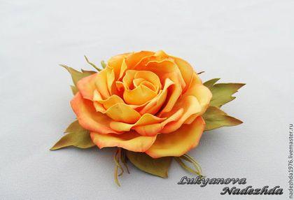 """Брошь из фоамирана """" Злата """" - брошь из фоамирана,броши из фоамирана,цветы из фоамирана"""