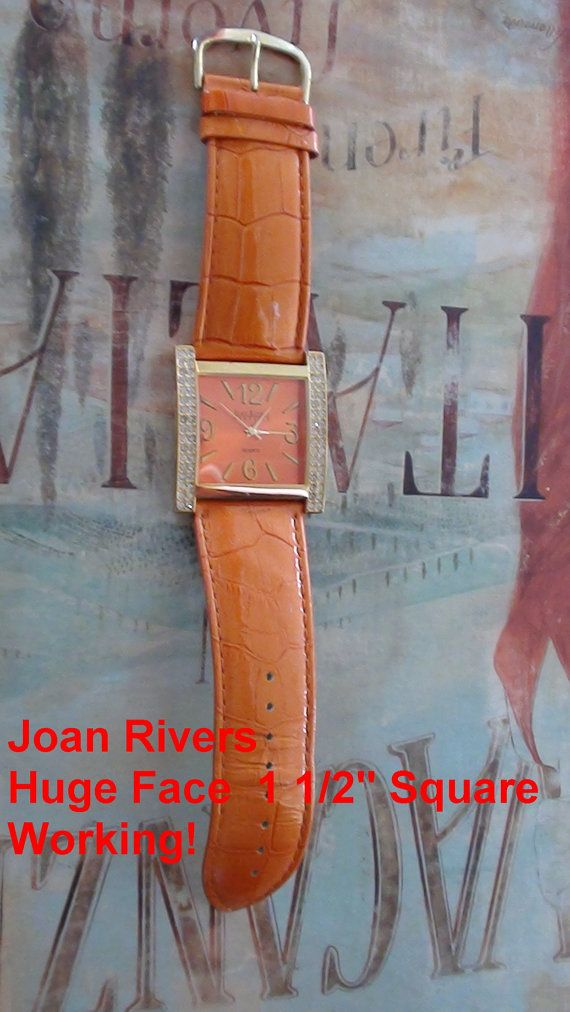 Joan Rivers Retired Design Women's Orange Watch by LuisBlindFinds