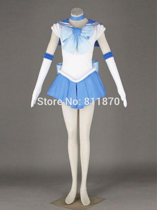 >> Click to Buy << Sailor Moon Cosplay Sailor Mercury Mizuno Ami Amy Anderson Costume Women's Dress Battle Suit Sailor Suits #Affiliate