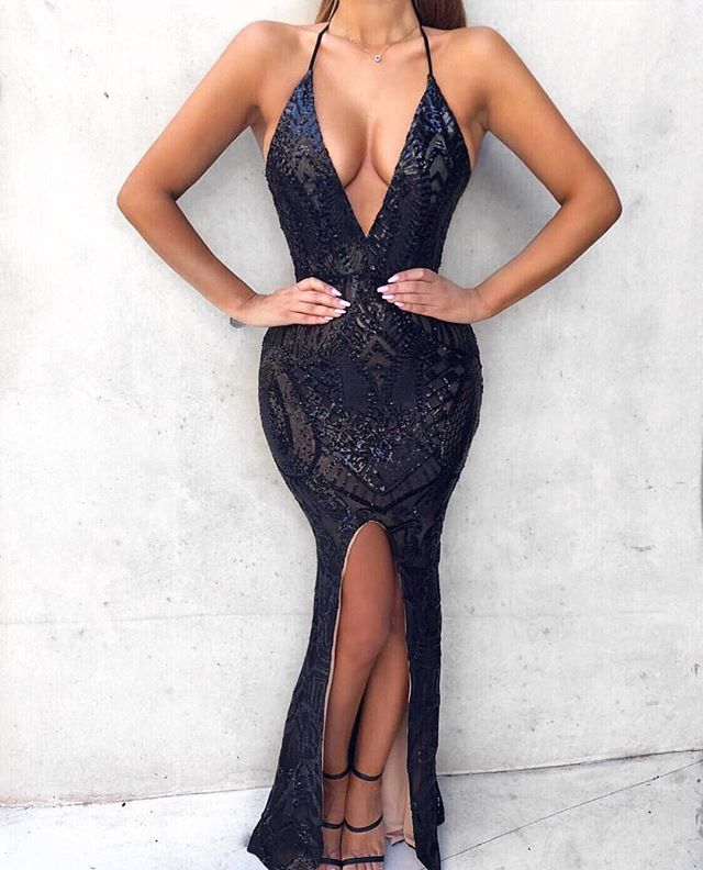 Show up and glow up in the Nookie Mon Cheri Gown in Black RENTAL