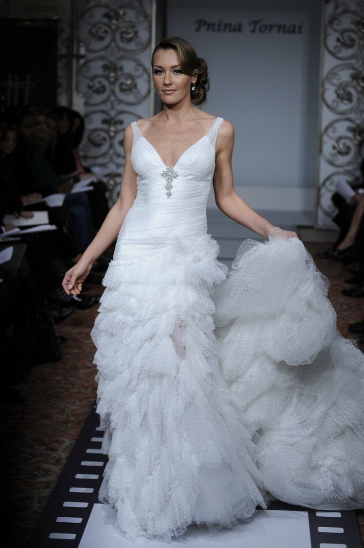 Best 13 pnina tornai ideas on Pinterest | Short wedding gowns ...