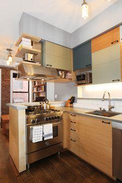 Houzz   NYC Mini Apartment   Contemporary   Kitchen   New York   Pamela  Glazer