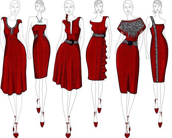 Hand Rendered Illustrations Converted To Digital Using Adobe Illustr Fashion Illustration Dresses Fashion Design Sketches Fashion Illustration Sketches Dresses