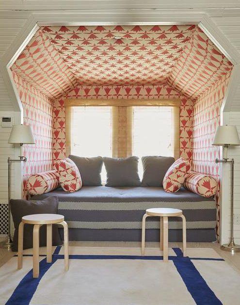upholstered nook