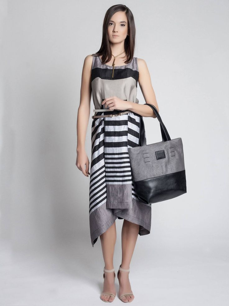 Gabo Szerencses Linen Striped Dress from Designrs.co