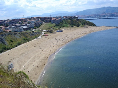 Arrigunaga Beach  in Algorta  Basque Country