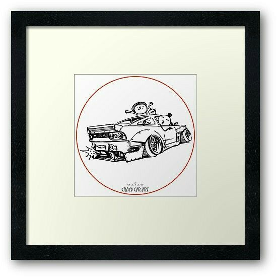 Crazy Car Art 0007 / framed art