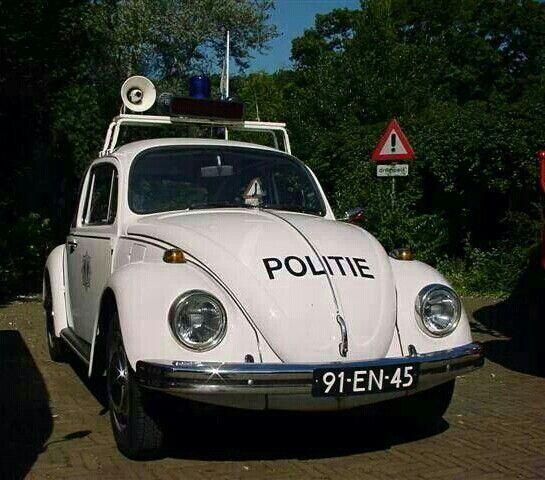 Oude politie auto pit