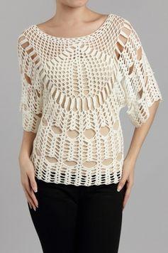 tunicas tejidas a crochet pinterest - Buscar con Google