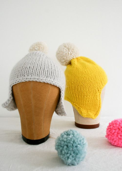 Whit's Knits: Cozy Ear FlapHat - Knitting Crochet Sewing Crafts Patterns and Ideas! - the purl bee