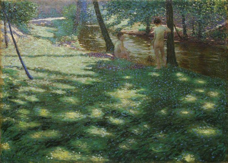 Antonín Hudeček (1872-1941) - Bathing.