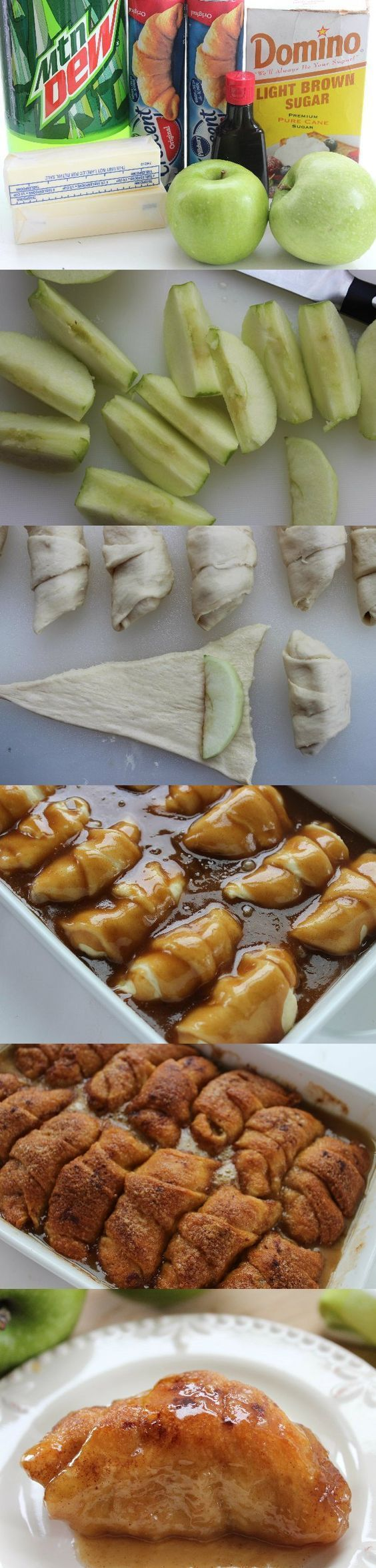These Mountain Dew Apple Dumplings, with their crunchy outside and soft and gooey inside, are the perfect choice.  With fresh, juicy apples and crescent rolls that are the perfect combination of crunchy on the outside and soft and chewy on the inside, these crescent roll apple dumplings provide an incredible flavor and texture.