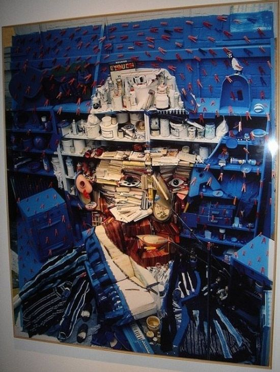 This is an amazing interpretation of one of Van Gogh's self portraits. this one in particular has been constructed using a wall full of miscellaneous items. I find it really interesting when people create truly artistic pieces, using things that are found around the house.